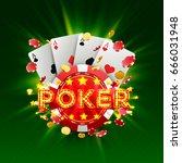 poker casino banner signboard... | Shutterstock .eps vector #666031948