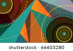 music plate. abstract vector...