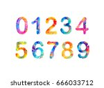 collection of digits. geometric ...   Shutterstock .eps vector #666033712