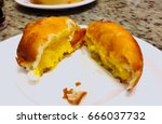 steamed stuffed deep fried cream | Shutterstock . vector #666037732