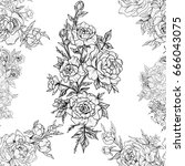 seamless pattern of beautiful... | Shutterstock . vector #666043075