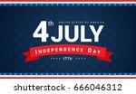 4th of july banner vector... | Shutterstock .eps vector #666046312
