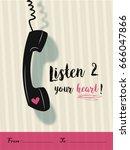 listen to your heart design  ... | Shutterstock .eps vector #666047866