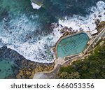 Wide Aerial View Of Bronte Roc...