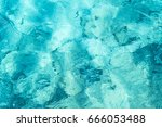 transparent turquoise sea water ... | Shutterstock . vector #666053488
