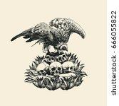 design t shirt with griffon... | Shutterstock .eps vector #666055822