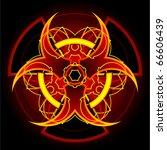 bio hazard and radiation signs... | Shutterstock .eps vector #66606439