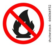 sign is prohibited fire   Shutterstock .eps vector #666066952