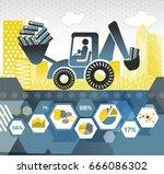 big data digging | Shutterstock .eps vector #666086302