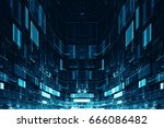 abstract digital science... | Shutterstock . vector #666086482