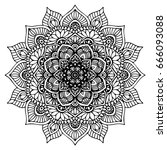 mandalas for coloring book.... | Shutterstock .eps vector #666093088