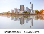 view on the financial district... | Shutterstock . vector #666098596