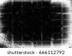 grunge black and white circle... | Shutterstock . vector #666112792