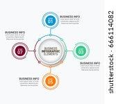 modern infographics vectors... | Shutterstock .eps vector #666114082