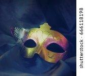 carnival mask | Shutterstock . vector #666118198