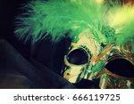 carnival mask | Shutterstock . vector #666119725