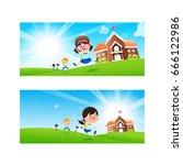 back to school concept blank...   Shutterstock .eps vector #666122986