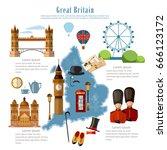 great britain infographics.... | Shutterstock .eps vector #666123172