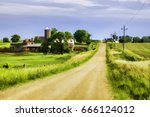 Painterly Landscape With Long...