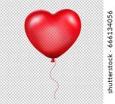 red heart balloon  | Shutterstock . vector #666134056