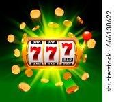 big win slots 777 banner casino ... | Shutterstock .eps vector #666138622