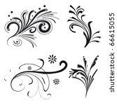set of floral design elements.... | Shutterstock .eps vector #66615055