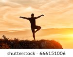 silhouette of the man... | Shutterstock . vector #666151006