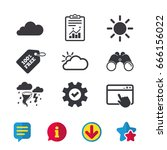 weather icons. cloud and sun...