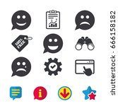 speech bubble smile face icons. ...