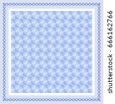 cute abstract pattern with blue ... | Shutterstock .eps vector #666162766