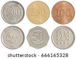 full set of lebanese coins...   Shutterstock . vector #666165328
