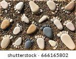 Pebble Stones Arranged Like...