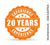 20 years experience vector icon ... | Shutterstock .eps vector #666166966