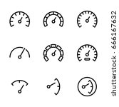 gauge icons set on white... | Shutterstock .eps vector #666167632