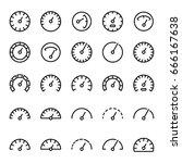 gauge icons set on white... | Shutterstock .eps vector #666167638