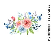painted watercolor composition...   Shutterstock . vector #666172618