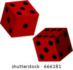 3d vector dice for use in... | Shutterstock .eps vector #666181