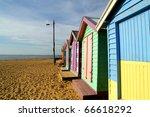 colorful cottage  brighton... | Shutterstock . vector #66618292