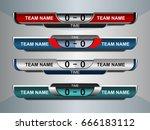 scoreboard sport template for... | Shutterstock .eps vector #666183112