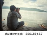 take photos friend shooting... | Shutterstock . vector #666189682