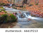 Landscape With Brook In Autumn...