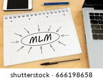 mlm   multi level marketing  ... | Shutterstock . vector #666198658