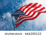 Usa Flag Background. American...