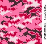 camouflage pattern background... | Shutterstock .eps vector #666201352