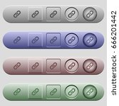 link icons on rounded... | Shutterstock .eps vector #666201442