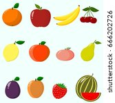 illustration of juicy and ripe... | Shutterstock .eps vector #666202726