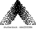black and white pixel... | Shutterstock .eps vector #666203386