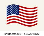 vector image of american flag.... | Shutterstock .eps vector #666204832