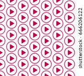 pattern background play button... | Shutterstock .eps vector #666206122