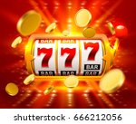 golden big win slots 777 banner ... | Shutterstock .eps vector #666212056